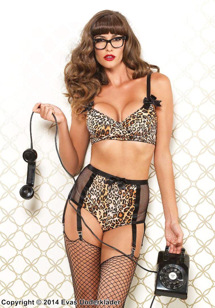 Leopardmönstrat underklädesset med retro-look